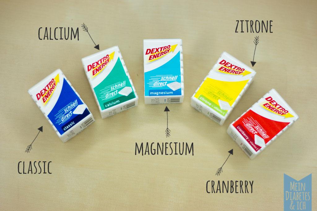 Dextro Energy Würfel - verschiedene Sorten